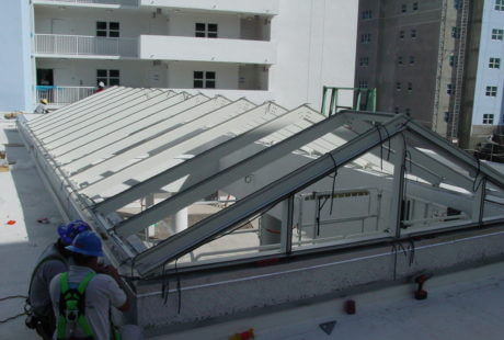 commercial skylight installation